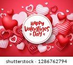 valentines day vector hearts...   Shutterstock .eps vector #1286762794