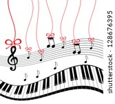 background   piano music | Shutterstock .eps vector #128676395