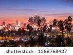 beautiful sunset through the... | Shutterstock . vector #1286768437
