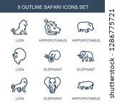 9 safari icons. trendy safari... | Shutterstock .eps vector #1286775721