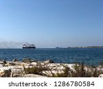big ship sailing the aegean sea ... | Shutterstock . vector #1286780584