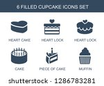 cupcake icons. trendy 6 cupcake ... | Shutterstock .eps vector #1286783281