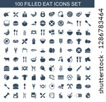 100 eat icons. trendy eat icons ... | Shutterstock .eps vector #1286783464