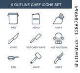 9 chef icons. trendy chef icons ... | Shutterstock .eps vector #1286784964