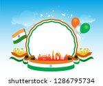 india republic day celebration... | Shutterstock .eps vector #1286795734