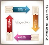 infographic template design  ... | Shutterstock .eps vector #128679761