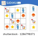 sudoku game for children with... | Shutterstock .eps vector #1286798371