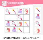 sudoku game for children with... | Shutterstock .eps vector #1286798374