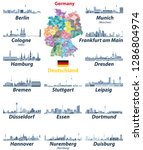 vector set of germany largest... | Shutterstock .eps vector #1286804974