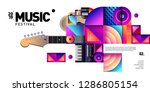 vector colorful music festival... | Shutterstock .eps vector #1286805154