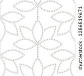 seamless pattern of lotus... | Shutterstock .eps vector #1286819671