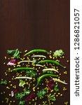 fresh raw vegetables in chunks... | Shutterstock . vector #1286821057