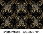 raster golden seamless pattern. ... | Shutterstock . vector #1286823784