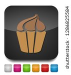 muffin    cupcake illustration  ... | Shutterstock .eps vector #1286825584
