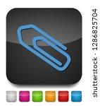 paper clip icon   attach paper... | Shutterstock .eps vector #1286825704
