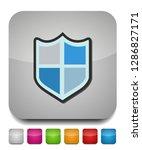 vector security shield emblem ... | Shutterstock .eps vector #1286827171