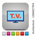 tv icon  vector television... | Shutterstock .eps vector #1286827354