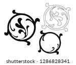 vector set of hand painted... | Shutterstock .eps vector #1286828341