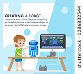 creating a robot model. kid... | Shutterstock .eps vector #1286832544