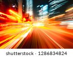 abstract motion blur in city | Shutterstock . vector #1286834824