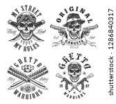 set of gangster emblems in... | Shutterstock . vector #1286840317