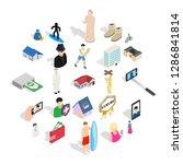 relation icons set. isometric... | Shutterstock .eps vector #1286841814