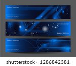 abstract futuristic technology... | Shutterstock .eps vector #1286842381