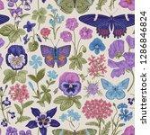 seamless botanical vintage... | Shutterstock .eps vector #1286846824