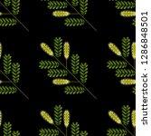 honey mesquite branch. prosopis ... | Shutterstock .eps vector #1286848501