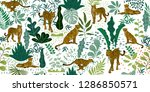 tropical seamless pattern with... | Shutterstock .eps vector #1286850571
