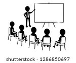 business presentation  speaker... | Shutterstock .eps vector #1286850697