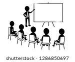 business presentation  speaker... | Shutterstock .eps vector #1286850697