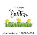 happy easter card  invitation ... | Shutterstock .eps vector #1286854834