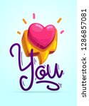 happy valentine's day card.... | Shutterstock .eps vector #1286857081