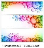 Three Abstract Background With...