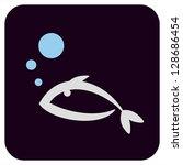 icon fish.vector illustration | Shutterstock .eps vector #128686454