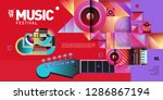 vector colorful music festival... | Shutterstock .eps vector #1286867194