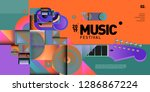 vector colorful music festival... | Shutterstock .eps vector #1286867224