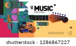 vector colorful music festival... | Shutterstock .eps vector #1286867227