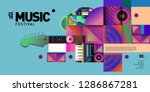 vector colorful music festival... | Shutterstock .eps vector #1286867281