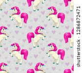 seamless pattern with cute... | Shutterstock .eps vector #1286872471