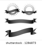 two banners and circles with... | Shutterstock .eps vector #1286873