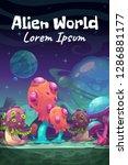 fantasy cartoon alien world... | Shutterstock .eps vector #1286881177