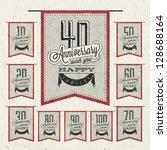 retro vintage style anniversary ... | Shutterstock .eps vector #128688164