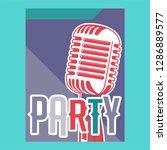 vintage live music poster... | Shutterstock .eps vector #1286889577