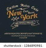 new york. cafe racer. hipster... | Shutterstock .eps vector #1286890981