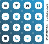 garment icons colored set with... | Shutterstock .eps vector #1286896621