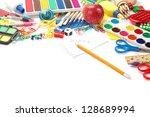 office and student accessories... | Shutterstock . vector #128689994