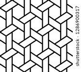 ethnic ornament. hexagons ... | Shutterstock .eps vector #1286900317