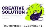 vector illustration of fat man... | Shutterstock .eps vector #1286906341